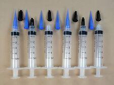 6 Syringes 5ml 5cc w Dispensing Tips & Caps Adhesives Glue Craft Hobby BLL22g
