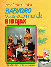 PUBLICITE ADVERTISING 024   1972   BABYGRO vous recommande BIO AJAX