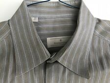 ERMENEGILDO ZEGNA GRAY++ 100% COTTON DRESS SHIRT MINT COND SIZE L (15. 5 (41))