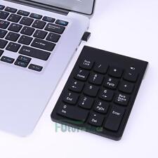Wireless 2.4G Mini 18-keys Num Pad Numeric Number Keypad Keyboard for Laptop US