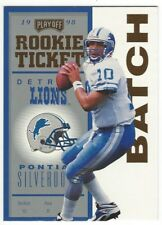 1998 Playoff Contenders Rookie Ticket Charlie Batch Gold Serial Numbered #20/25