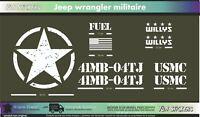 JEEP UMSC army militaire - kit adhésif décoration autocollant -Couleur au choix