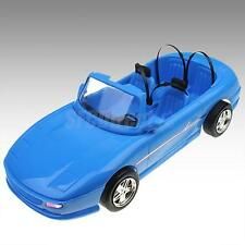 Blue 4-seats Convertible Sports Car Cabriolet Toy For Barbie Ken Prince Dolls