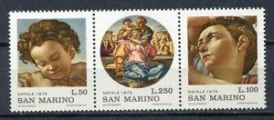 29926) San Marino 1975 MNH New Christmas Natale 3v Triptych