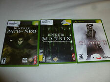 XBOX VIDEO GAME LOT OF 3 BLADE II MATRIX PATH OF NEO ENTER THE MATRIX COMPLETE
