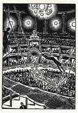 TRAPEZIO artisti in circo teatro-Frans Masereel-TAGLIO LEGNO