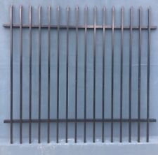 Black Steel Security Fencing Heavy Duty Tubular Panels 2.4m*2.4m