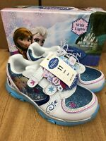 Disney Frozen Elsa-Anna Athletic Running Shoe With Lights Size 11 (Toddler)
