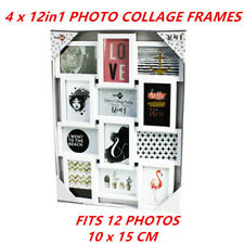 4 x 12 IN 1 PICTURE PHOTO FRAME WHITE 10 x 15 cm Photos Collage Home Decor Gift