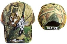 Native Pride Embroidered Camo Caps ........Wolf & Feathers (CAPNP364^*)