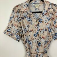 Vintage Sears Zip and Dash Womans Dress Floral Perma Smooth Sz 20 1/2