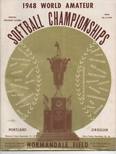 1948 Program the World Men's & Woman's Amateur Softball Championships Portland