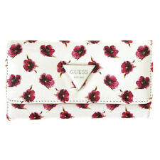 New GUESS Pink Floral Logo Trifold Purse Wallet Perfect Gift