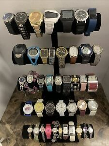 Huge Quartz Watch Lot - Citizen, Guess, Orient, Fossil, Timex +More-42 Watches!