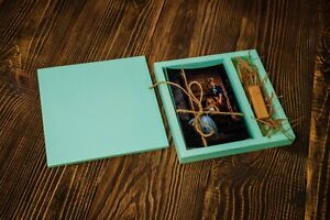 Handmade wedding wood photo box for USB Drive for wedding or family photo 4x6 in