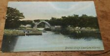 VINTAGE POSTCARD - BRICKED BRIDGE, LOWER LAKE, KILLARNEY - EARLY 190O'S.