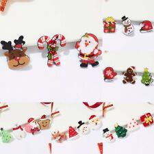 Brooch Pin Women Christmas Jewelry Gifts Fashion Santa Claus Snowman Deer Tree