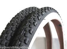 "26"" x 2.125 PAIR OF BEACH CRUISER Whitewall Bicycle Tires White Wall Tyres RETRO"