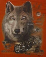 Brand New - Orange Glow in the Dark Wolf Tee T Shirt - Sizes: Small, Large