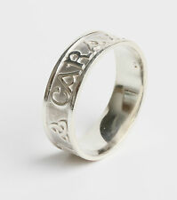 Irish Made .925 Sterling Silver Anam cara ring, Soul mate 7mm wide size P