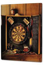 Tin Sign XXL Retro  Dartboard darts