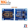 Module DS1307 I2C RTC Horloge temps réel | real time Arduino IIC PIC ARM STM RPI