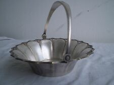 1910 RARE VINTAGE ART DECO WMF  SILVER-PLATED- BASKET  GERMANY