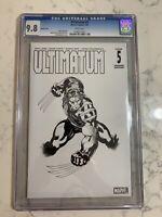 Ultimatum #5 Sketch Cover CGC 9.8 Wolverine 2009
