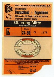 Ticket Germany - Argentina 12.09.1979