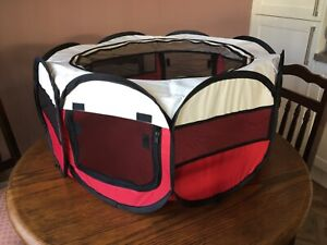 Large Fabric Dog Crate Cat Cage Pet Travel Puppy Play Pen Popup Tent Foldable