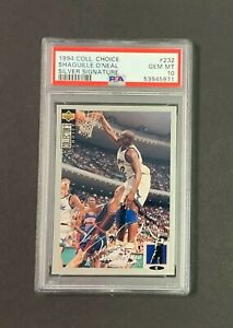 1994 Collector's Choice SILVER SIGNATURE #232 Shaquille O'Neal PSA 10 GEM MINT