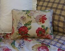 NEW Custom Ralph Lauren Surrey Garden Floral Accent Pillow 2 Button