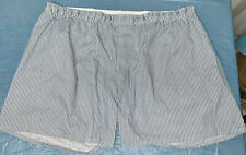 Vintage Haband White w Blue Striped Cotton Blend Men's Boxer Underwear 48