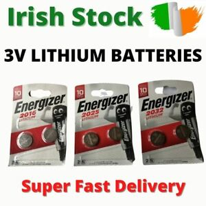 2 x Energizer 3V Lithium Coin Cell Batteries Battery CR2016 CR2025 CR2032