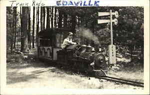 Miniature RR Train Ride Edaville? Written on Front Real Photo Postcard