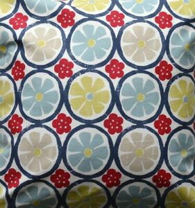 Retro Chic 'Energy Mineral' Blue, red, yellow fabric