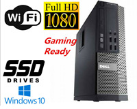 Gaming PC Desktop Computer i7 16GB 128GB SSD+1TB HD6450 Windows 10 Pro WIFI