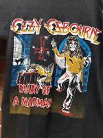 1981 Vintage Ozzy Osbourne Diary of a Madman Tour Raglan Black T-Shirt S-XL N027