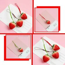 Cute Strawberry Hanging Strap Phone Charms For iPhone 11 12 PRO MINI XS SE 2020
