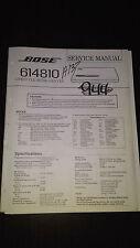 Bose Lifestyle Series Model 614810 CD service manual original repair book