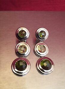 Xenox Jewellery Solid Sterling 925 Silver Peridot Ladies Drop Earrings Gorgeous.