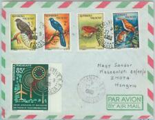 81121 - MADAGASCAR - POSTAL HISTORY -  COVER to HUNGARY 1963  BIRDS