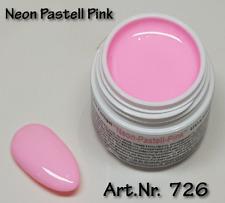 5 ml  UV Exclusiv Farbgel Pastell Neon Pink Gel Nr.726