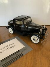 1932 FORD DEUCE COUPE 1:24 FRANKLIN MINT DIECAST COLLECTORS CAR ANTIQUE
