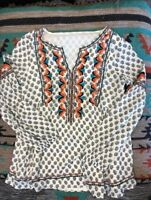 "Sundance Catalog Women's ""Adelle"" Top Embroidered Brand New, Never Worn"