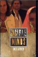 SIMPLE MINDS - SHE'S A RIVER / E 55 1995 UK CASSINGLE CARD SLEEVE SLIP-CASE