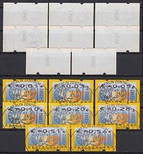 Bund ATM 4.1 RS 1 gest. 2002 Postemblem Restwertesatz ESST kpl. mit Zählnummern