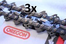 """3 x Brand New 20"""" 20 inch Genuine OREGON Chainsaw Chain 21LPX076X 76 Links .325"""