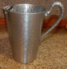 RETRO HAND FORGED ALUMINUM WATER PITCHER W/ ICE CATCHER EVERLAST FORGED ALUMINUM