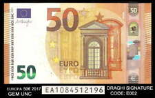 bucksless 2144: NEW ISSUE EUROPA SLOVENIA  € 50 Euro 2017 GEM UNC , SIGN DRAGHI